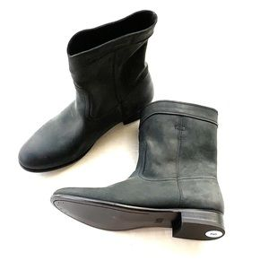 New Frye Cara Roper Black Leather Boots Size 9